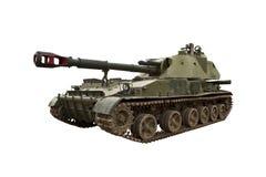 Самоходная артиллерия изолированная на белой предпосылке Стоковая Фотография