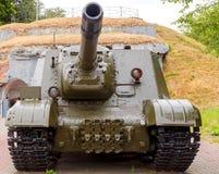 Самоходное ISU - 152 в крепости Бреста Стоковая Фотография