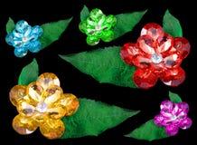 самоцветы предпосылки черные изолировали Стоковая Фотография