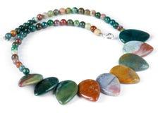 самоцветы сделали ожерелье драгоценной semi Стоковая Фотография RF
