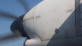 Самолетный двигатель с мотором пропеллера сток-видео