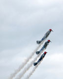 Самолеты летая близко Стоковое Фото