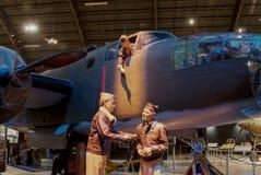 Самолеты на музее USAF, Dayton, Огайо Стоковая Фотография