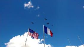 Самолеты на дне Д стоковая фотография rf
