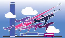 Самолеты стоковые фото