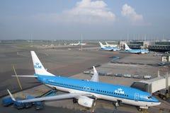 Самолеты KlM Стоковое Изображение RF