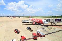 Самолет авиапорта земной Стоковое Фото