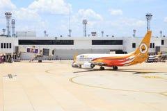 Самолет авиапорта земной Стоковая Фотография RF