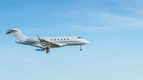 Самолет двигателя в небе Стоковая Фотография RF