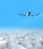 Самолет двигателя на большой возвышенности Стоковые Изображения