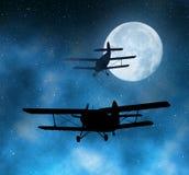 Самолет двигателя силуэта Стоковое фото RF