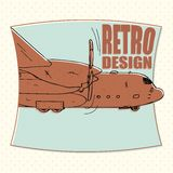 Самолет воздушные судн, авиакомпания, переход, бомбардировщик Стоковые Изображения RF