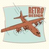 Самолет воздушные судн, авиакомпания, переход, бомбардировщик Стоковая Фотография RF