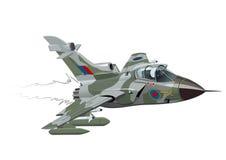 Самолет войск шаржа иллюстрация штока