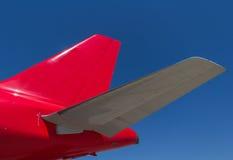 самолет выпускает струю крыла кабеля Стоковая Фотография RF