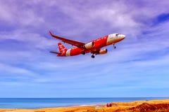 Самолет в воздухе Стоковая Фотография