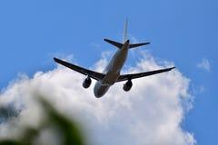 Самолет в воздухе Стоковое Изображение