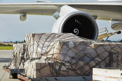 Самолет груза Стоковое Изображение