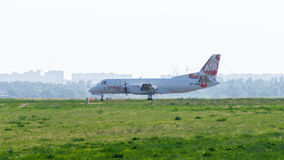 Самолет груза Saab на авиаполе Стоковые Изображения RF