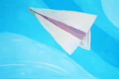 Самолет летания шаржа Стоковое Фото