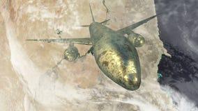 Самолет летая над Египтом сток-видео