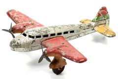 Самолет игрушки олова стоковые изображения