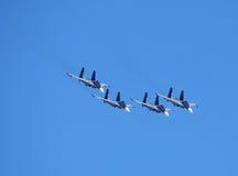 Самолет-истребители в небе стоковое изображение rf