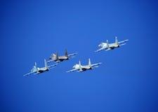 самолет-истребители Образование косоугольника стоковое фото