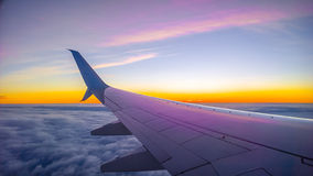 самолет, котор будут имеет извлекли изображением, котор окно взгляда Стоковые Фото