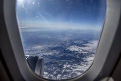 самолет, котор будут имеет извлекли изображением, котор окно взгляда Стоковое Изображение RF