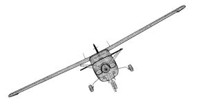 самолет малый Стоковое Фото