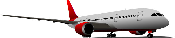 Самолет на авиаполе Стоковые Изображения