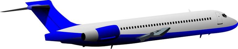 Самолет на воздухе Стоковое Изображение