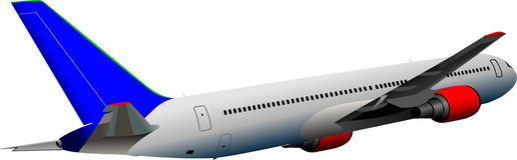 Самолет на воздухе Стоковые Изображения
