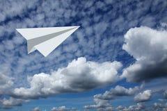 Самолет неба Стоковые Фото