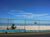 Самолет посадки стоковые фотографии rf