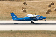 Самолет света упорки близнеца Partenavia стоковые фотографии rf
