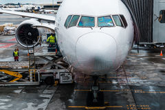 Самолет Сингапоре Аирлинес Боинга Стоковое Фото