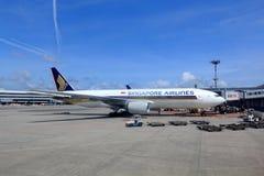 Самолет Сингапоре Аирлинес Стоковая Фотография RF
