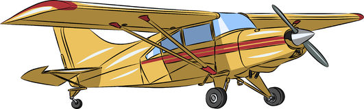 Самолет спорт вектора малый стоковые фотографии rf