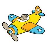 Самолет шаржа Стоковые Изображения