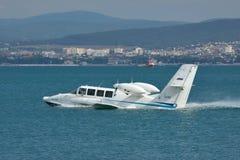 Самолет Beriev Be-103 земноводный Стоковое фото RF