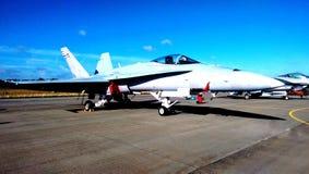 Самолет F18 снаружи Стоковое Изображение RF
