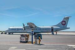 Самолет Sterling Cimber авиакомпании на Борнхольме Стоковое Фото