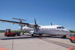 Самолет Sterling Cimber авиакомпании на Борнхольме Стоковые Фото