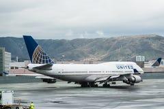 Самолет United Airlines Боинга Стоковое Изображение