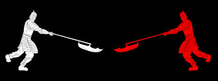 Самураи значка Стоковое Изображение RF