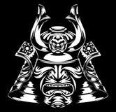 Самураи маскируют и шлем Стоковое Фото