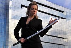 самураи руководителя бизнеса Стоковое фото RF