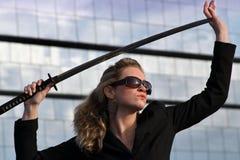 самураи руководителя бизнеса Стоковые Фото